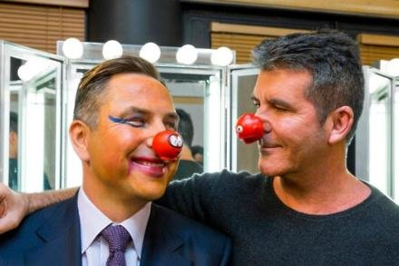 David Walliams and Simon Cowell following their Comic Relief makeovers