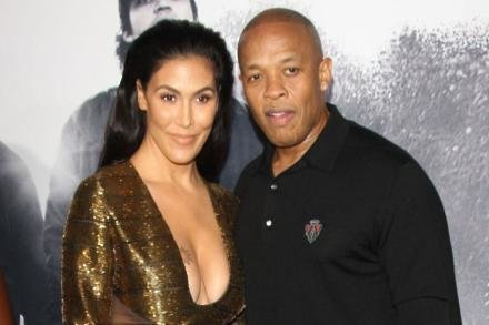 Dr. Dre with wife Nicole Young