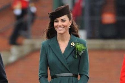 Duchess Catherine at the Irish Guards parade