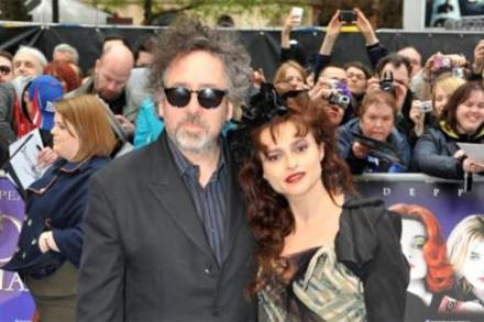 Helena Bonham Carter and Tim Burton at Dark Shadows premiere