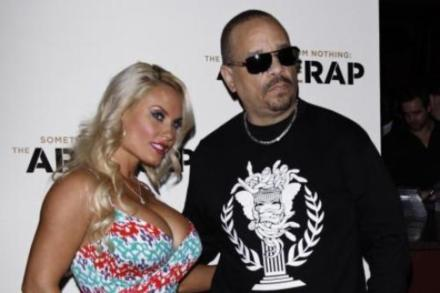Ice-T and his wife Coco at the premiere