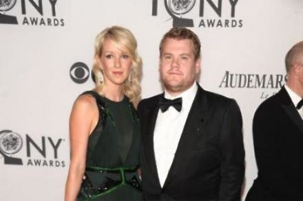 James Corden with wife Julia