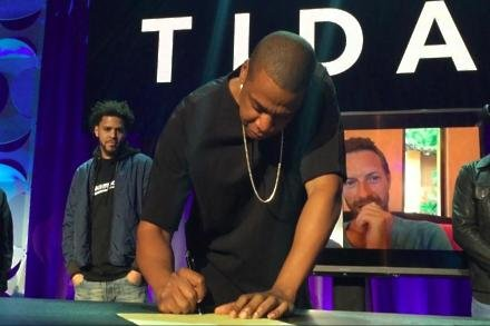 Jay-Z at the Tidal launch