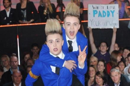 Jedward at the 'Celebrity Big Brother' final in 2011