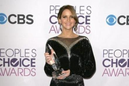 Jennifer Lawrence with her People's Choice Award