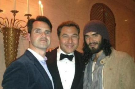 Jimmy Carr, David Walliams and Russell Brand