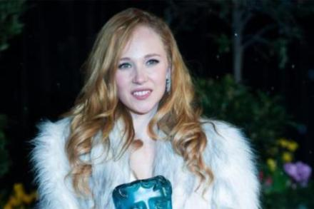 Juno Temple with her Rising Star BAFTA award