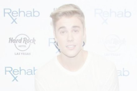 Justin Bieber at the Rehab pool pre-fight party at The Hard Rock Hotel and Casino