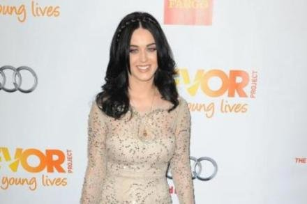 Katy Perry in a nude dress at the Trevor Project's annual awards ceremony
