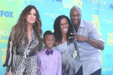 Khloe Kardashian with Lamar Jr., Destiny and Lamar Odom