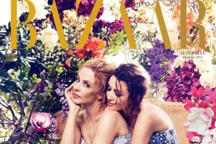 Kylie and Dannii Minogue in Harper's Bazaar Australia