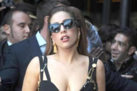 Lady Gaga in iconic Versace dress