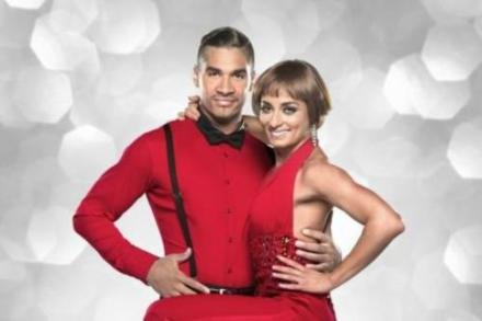 Louis Smith with partner Flavia Cacace