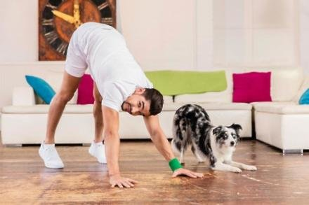 Louis Smith doing Petsercise