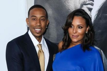 Ludacris with his wife Eudoxie Mbouguiengue