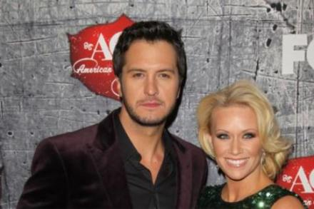 Luke Bryan and his wife Caroline Boyer at the American Country Awards in Las Vegas