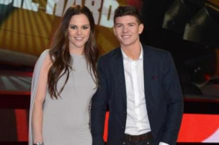 Luke Campbell with fiancee at Die Hard premiere