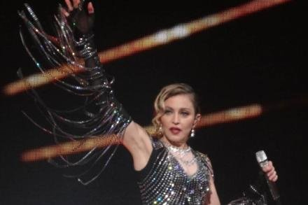 Madonna on stage in Montreal