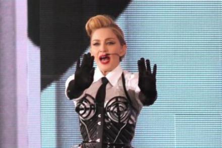 Madonna performing in New York