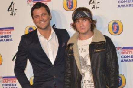 Dougie Poynter with Mark Wright
