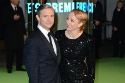 Martin Freeman and wife Amanda Abbington