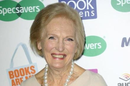 Mary Berry with her Outstanding Achievement Award at the Specsavers National Book Awards