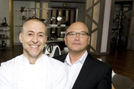 Masterchef judges Michel Roux Jr. and Gregg Wallace