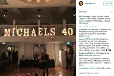 Michael Bublé's birthday party (c) Instagram