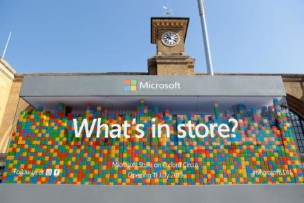 Microsoft's What's In Store? pop up
