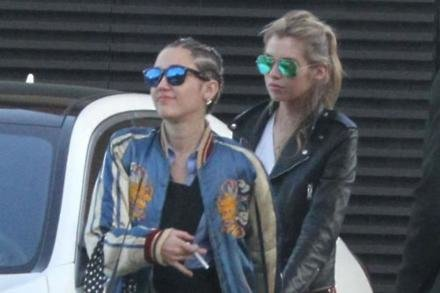 Stella Maxwell with girlfriend Miley Cyrus
