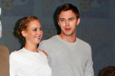 Jennifer Lawrence with ex-boyfriend Nicholas Hoult