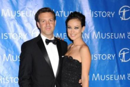 Jason Sudeikis with fiancee Olivia Wilde