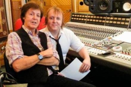 Paul and James McCartney