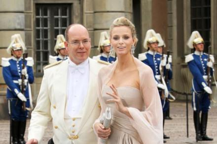 Prince Albert with Princess Charlene