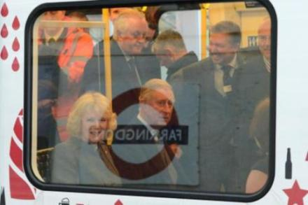 Prince Charles and Camilla on the London Underground