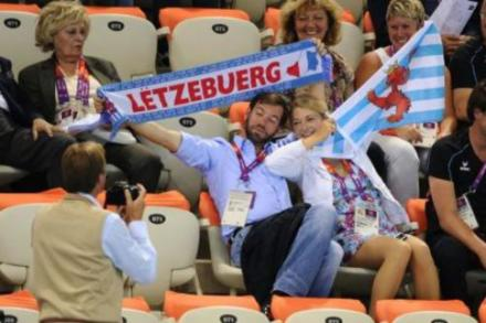 Prince Guillaume and Countess Stephanie de Lannoy at the London Olympics