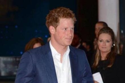 Prince Harry at the Dark Knight Rises premiere in London
