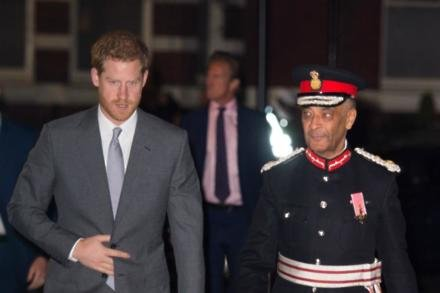 Prince Harry attends the London Fire Brigade's Carol Service