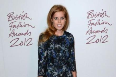Princess Beatrice at the British Fashion Awards