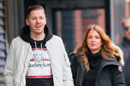 Professor Green with wife Millie Mackintosh