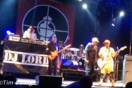Public Enemy on stage at the Relentless Energy Drink Freeze Festival