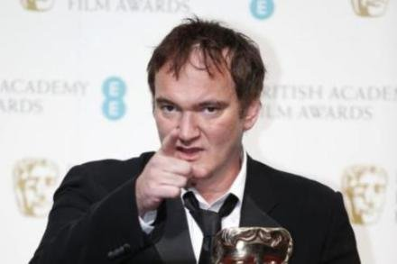 Quentin Tarantino with his BAFTA prize