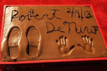 Robert De Niro's hand and footprints
