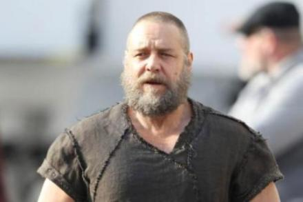 Russell Crowe on the set of 'Noah'