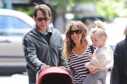 Sarah Jessica Parker and Matthew Broderick with their twins