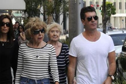 Simon Cowell with mother Julie