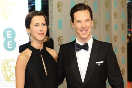 Sophie Hunter and Benedict Cumberbatch at the BAFTAs