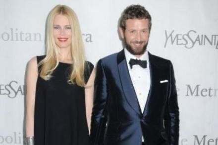 Stefano Pilati and Claudia Schiffer