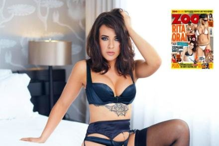 Stephanie Davis on the cover of this week's Zoo magazine