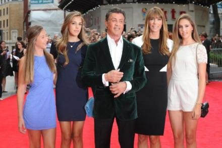 Sylvester Stallone and his family